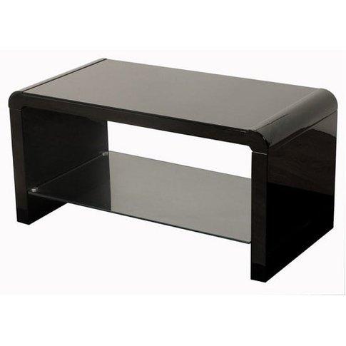 Norset Modern Coffee Table Rectangular In Black Gloss