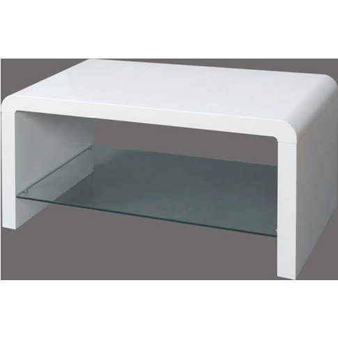 Norset Modern Coffee Table Rectangular In White Gloss