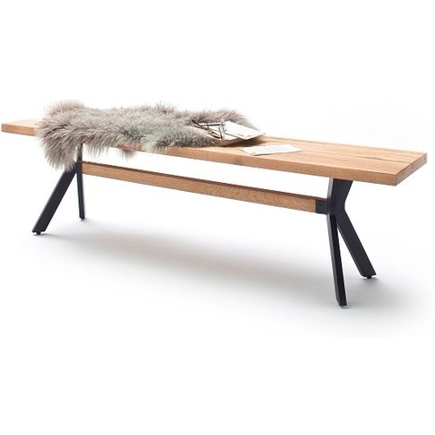 Norwich Wooden Dining Bench Rectangular In Wild Oak