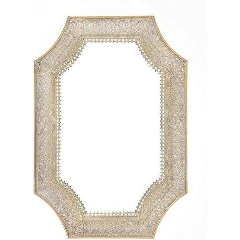 Novello Contemporary Wall Mirror In Champagne Gold