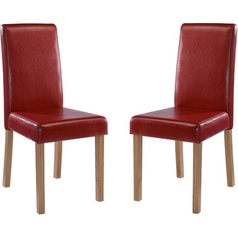 Oakridge Red Finish Dining Chairs In Pair