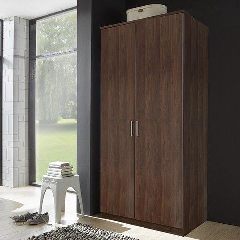 Octavia Contemporary Wardrobe In Walnut With 2 Doors