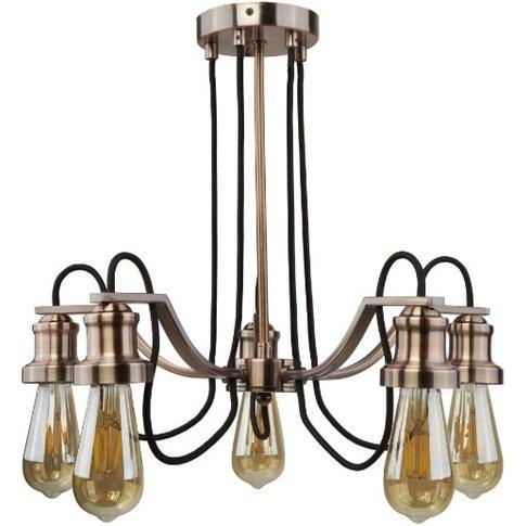 Olivia 5 Light Ceiling Light In Antique Copper