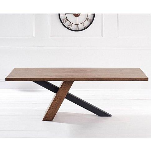 Olsen 225cm Dining Table Rectangular In Dark Oak And...