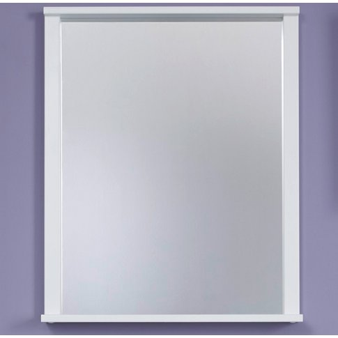 Onix Bathroom Wall Mirror Rectangular In White With ...