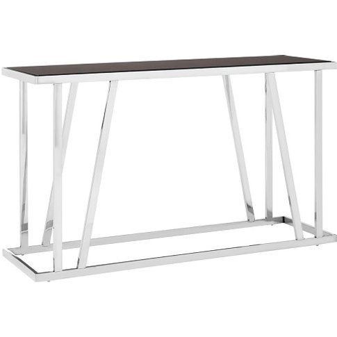 Orion Glass Console Table Rectangular In Black With ...