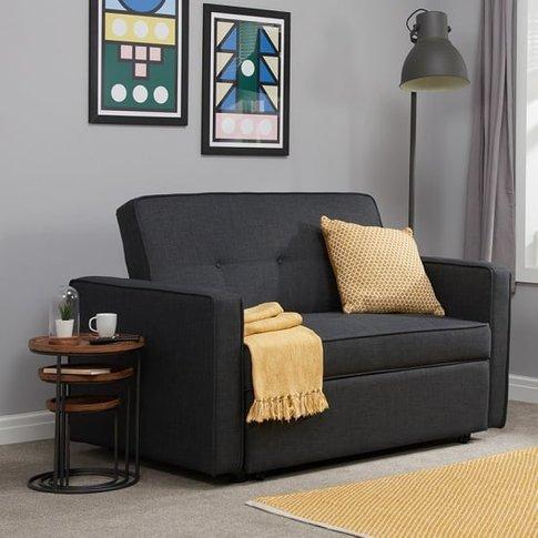 Orlando Modern Fabric Sofa Bed In Grey