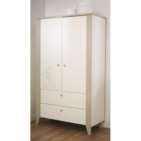 Orsang Childrens Wardrobe In White With 2 Doors And ...