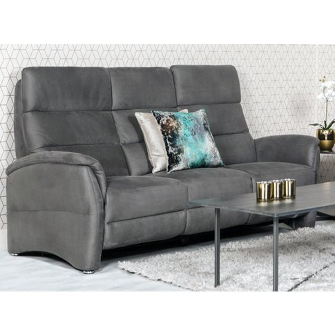 Oslo Fabric Upholstered Electric Recliner 3 Seater S...