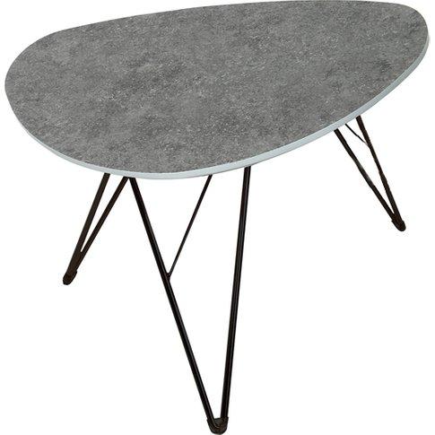 Ottocav Triangle Coffee Table In Grey Concrete Effect