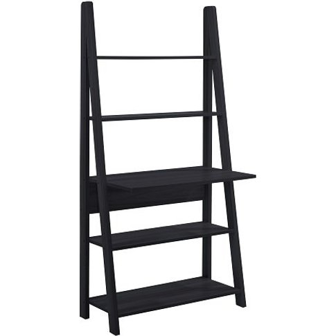 Paltrow Computer Desk In Black With Ladder Style And...