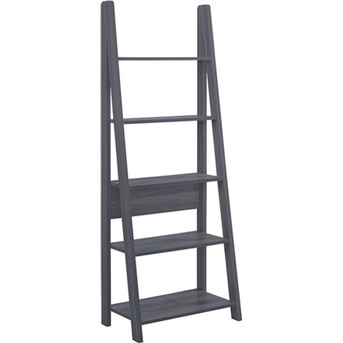 Paltrow Wooden Ladder Style Bookcase In Black