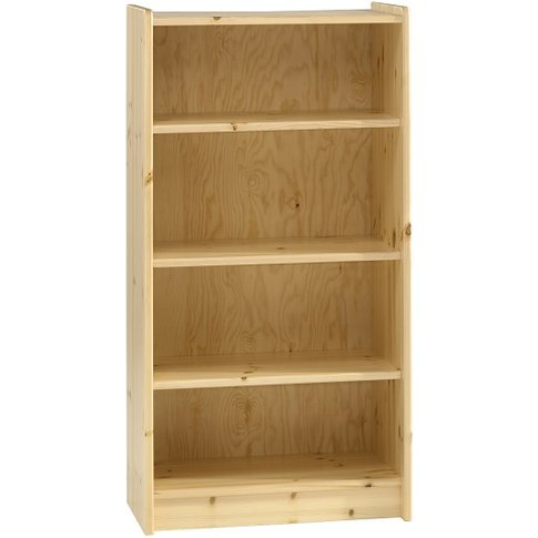 Pathos Childrens Tall Bookcase In Pine With 4 Compar...