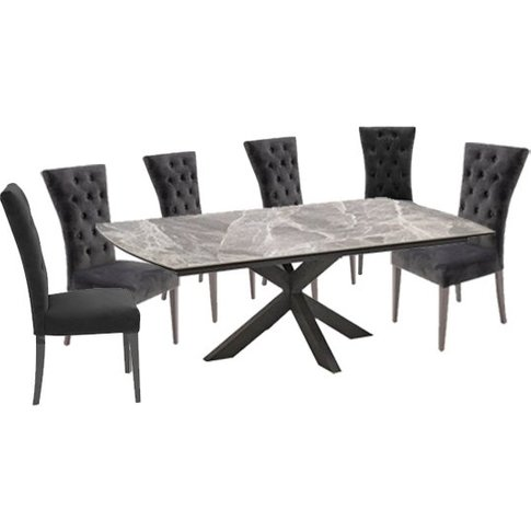 Pelagius Extending Dining Table With 8 Pembroke Char...