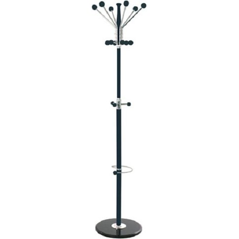 Percy Coat And Hat Stand In Black Chrome