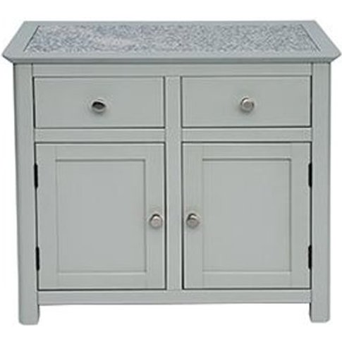 Perth Stone Inset Top Sideboard With 2 Doors And 2 D...