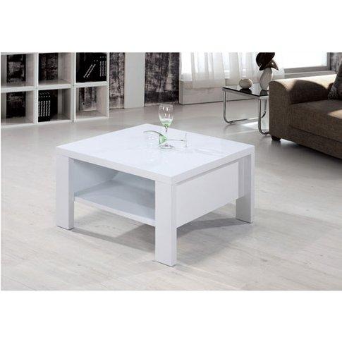 Peru High Gloss White Square Coffee Table