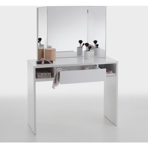 Pisces Dressing Table In Glossy White