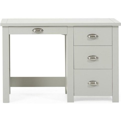 Platina Wooden Single Pedestal Dressing Table In Grey