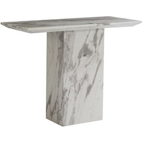 Portia Marble Console Table Rectangular In White Car...