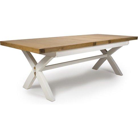 Portland Extending Wooden Dining Table In Oak