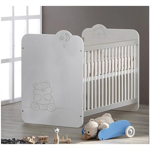 Prague Wooden Childrens Bed In White With Bars