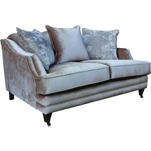 Preston 2 Seater Sofa In Champagne Velvet With Dark ...