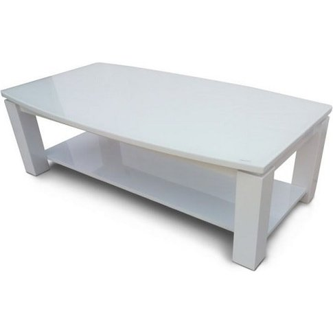 Promo Glass Coffee Table With White High Gloss And U...