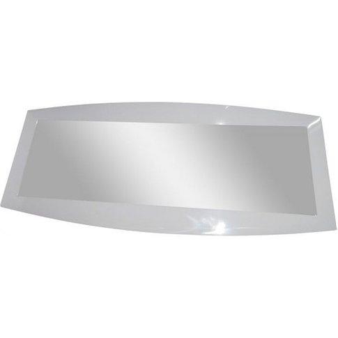 Promo Wall Mirror Rectangular In White High Gloss