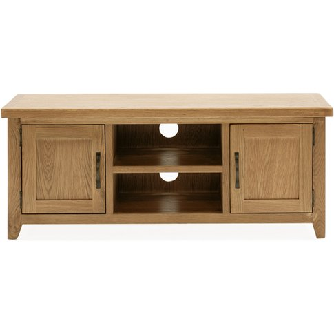 Ramore Large Wooden Tv Stand In Natural With 2 Doors