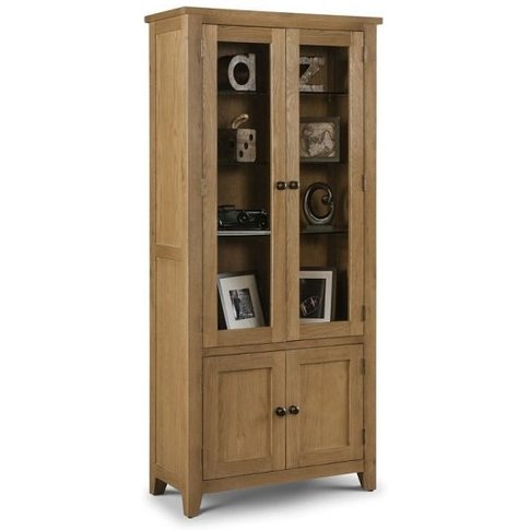 Raven Wooden Display Cabinet In Waxed Oak Finish