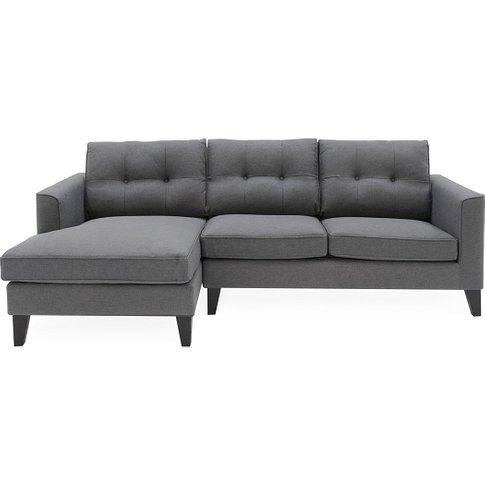 Rawls Corner Fabric Left Hand Side Sofa In Charcoal ...