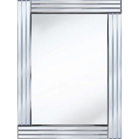 Stripe Rectangle 60x80 Decorative Mirror