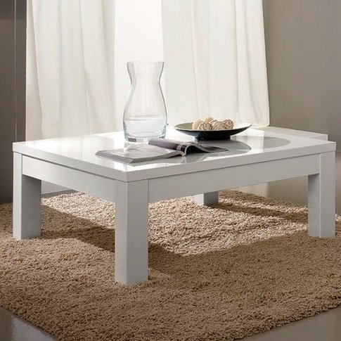 Regal Coffee Table Rectangular In White With High Gl...