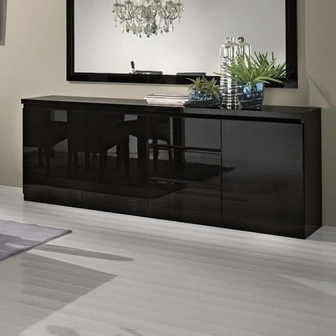 Regal Sideboard In Black With High Gloss Lacquer And...
