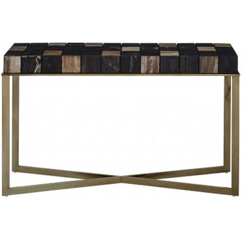 Relics Console Table In Multicolour With Stainless S...