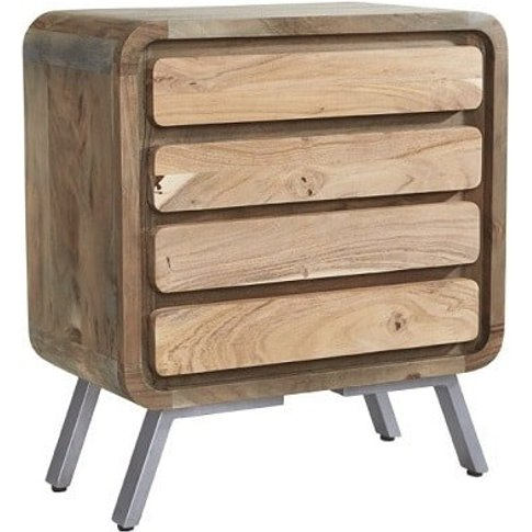 Reverso Wooden Wide Chest Of Drawers In Reclaimed Wo...