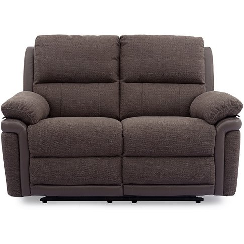 Risor Recliner 2 Seater Sofa In Nutmeg Brown Fabric ...