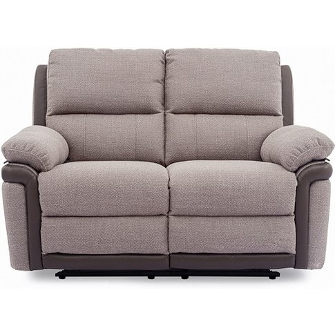 Risor Recliner 2 Seater Sofa In Oatmeal Grey Fabric ...