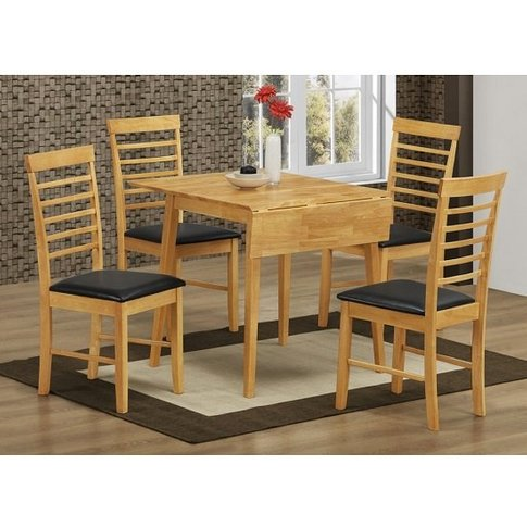 Rivero Drop Leaf Dining Table Square In Light Oak An...