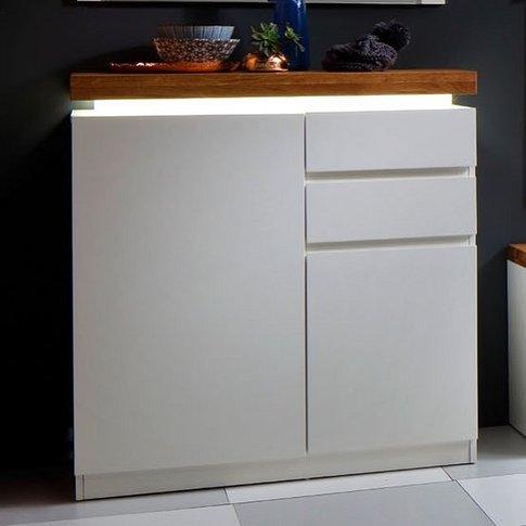 Romina Shoe Storage Cabinet In Knotty Oak Matt White...