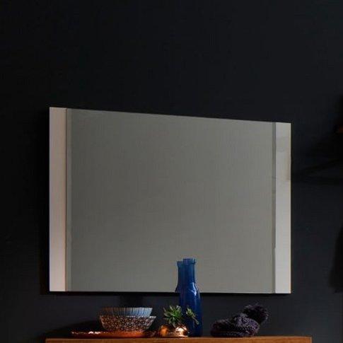 Romina Modern Wall Mirror Rectangular In Matt White