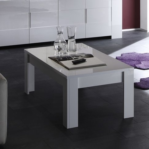 Rossini Modern Coffee Table Rectangular In White Gloss