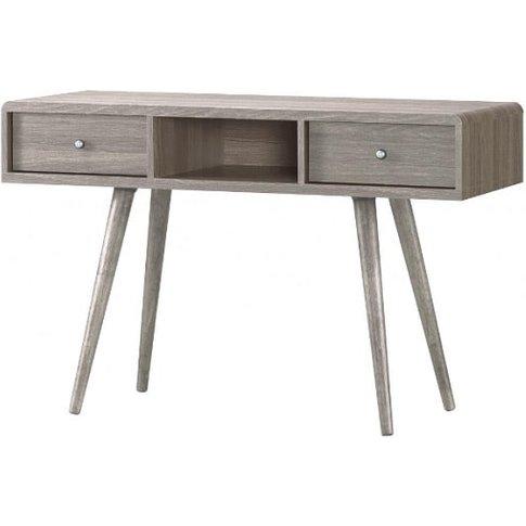 Rufford Wooden Dressing Table In Grey Oak Effect Wit...