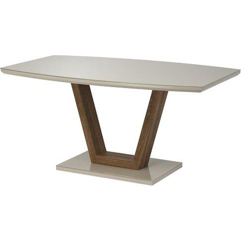 Samson Glass Dining Table Rectangular In Latte High ...