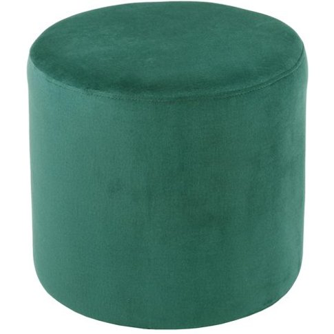Savannah Soft Velvet Stool In Forest Green