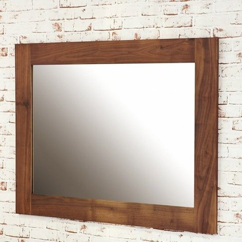 Sayan Wooden Wall Mirror Rectangular In Walnut
