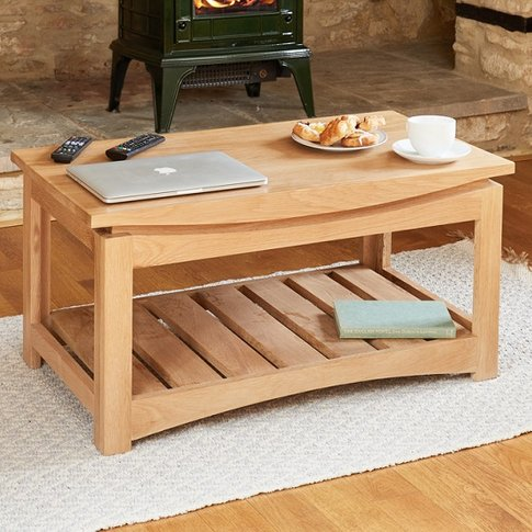 Seldon Wooden Coffee Table Rectangular In Oak