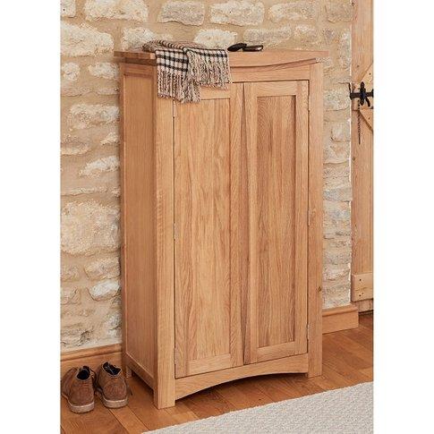 Seldon Contemporary Shoe Storage Cupboard In Oak Wit...