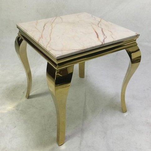 Serena Marble Coffee Table Square In White With Meta...